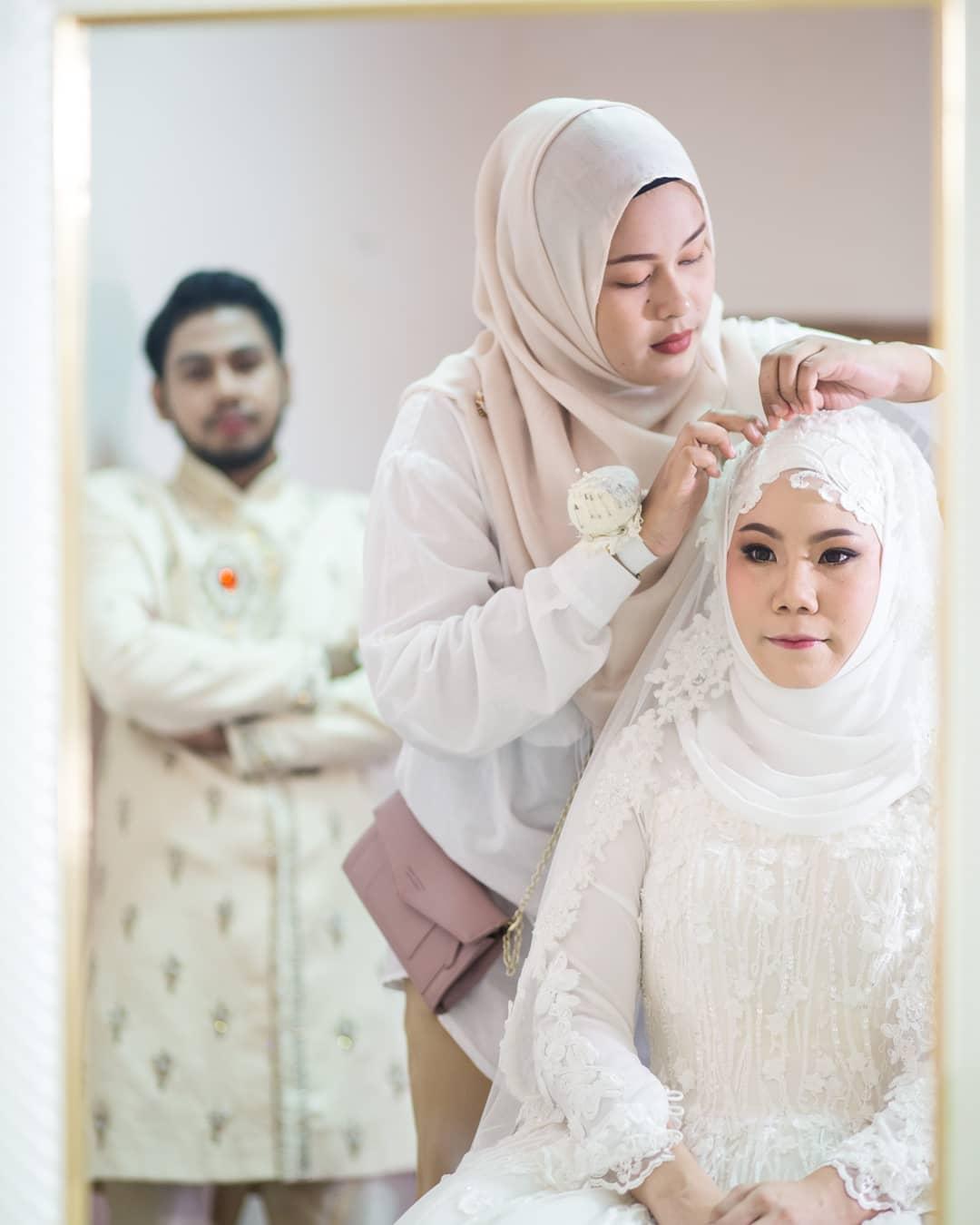 คลุมผมเจ้าสาว คลุมผมอิสลาม คลุมผ้าเจ้าสาว ผ้าคลุมเจ้าสาว